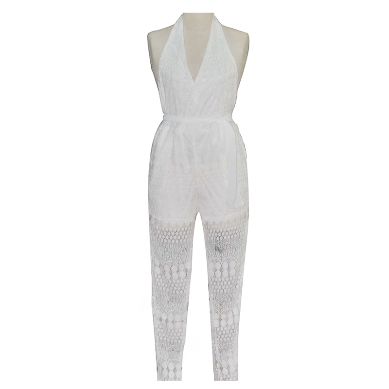 Sexy Women Clubwear V Neck Sleveless Playsuit Party Jumpsuit&Romper Trousers