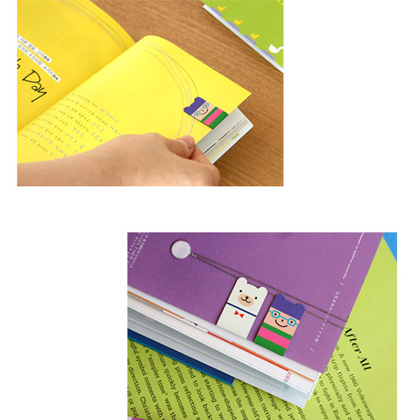 Cute Creative 4Pcs(1Set) Korean Magnetic Metal Bookmark Book Clip School Gift