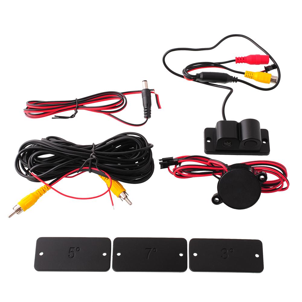 hot 2 in 1 car reverse sensor radar system parking camera anti collision ebay. Black Bedroom Furniture Sets. Home Design Ideas