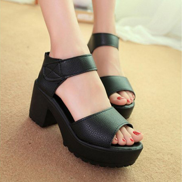Womens Ladies Pumps Party Platform High Heel Sandals Peep Toe Strappy Shoes