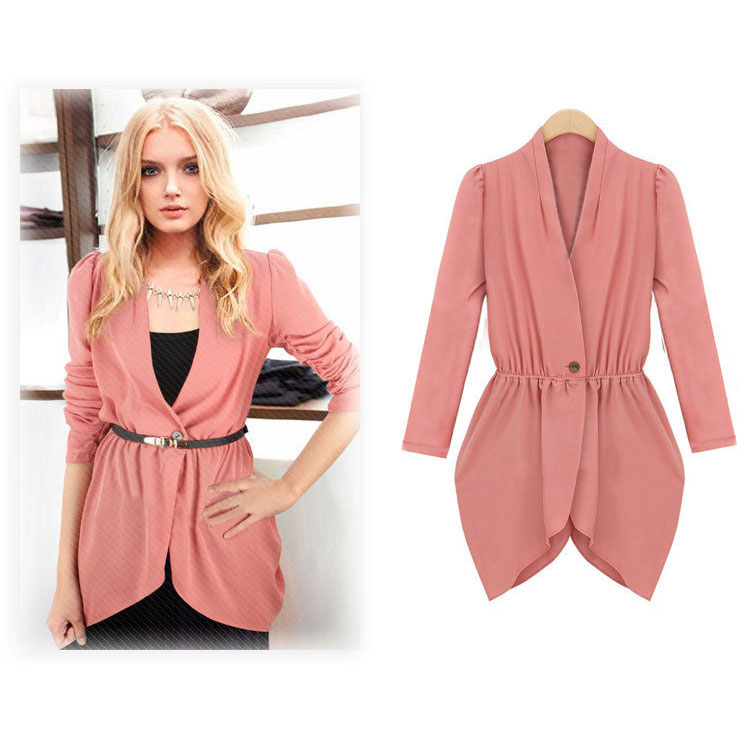 New Women Outwear V Neck Tops Summer Blouse Jacket Cardigan Casual Coat