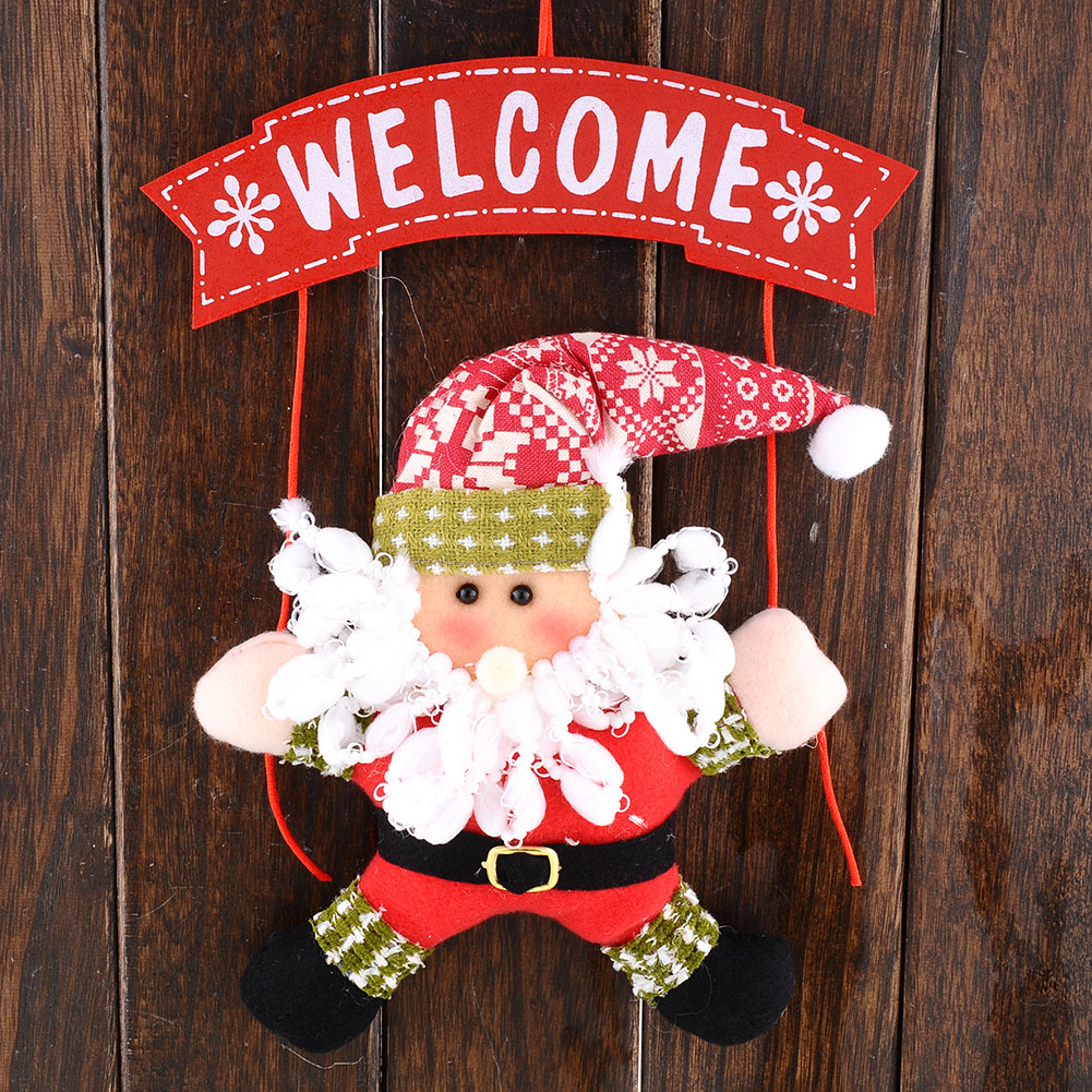 Christmas decorations welcome snowman funny hanger door for Funny christmas decorations