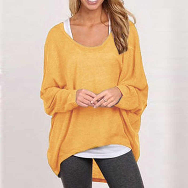 damen lose pullover kurzarm t shirt klassisch bluse tunika top sweat lang bluse ebay. Black Bedroom Furniture Sets. Home Design Ideas