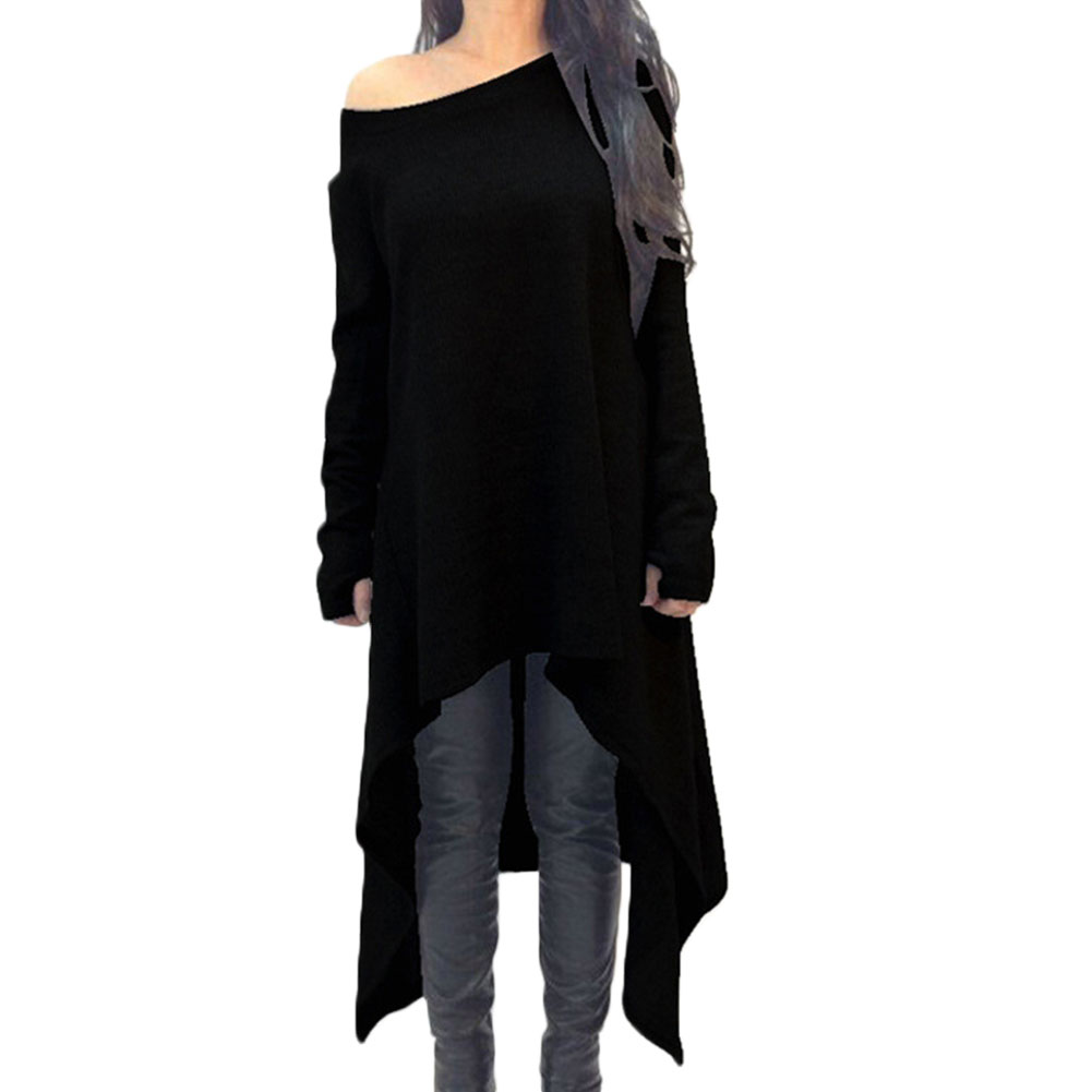fashion oversize winter damen langarm bluse longshirt tunika top minikleid ebay. Black Bedroom Furniture Sets. Home Design Ideas