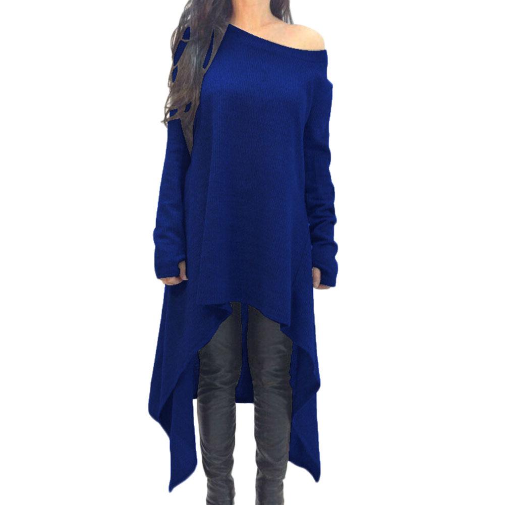fashion oversize winter damen langarm bluse longshirt tunika top minikleid ebay. Black Bedroom Furniture Sets. Home Design Ideas