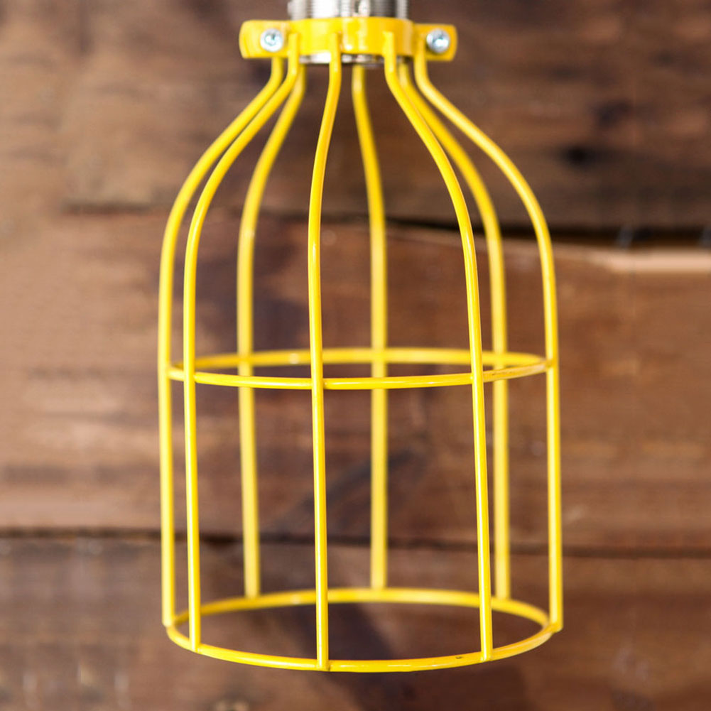 Lighting Metal Hanging Guard for Pendant String Light Lamp Holder Wire Iron Cage