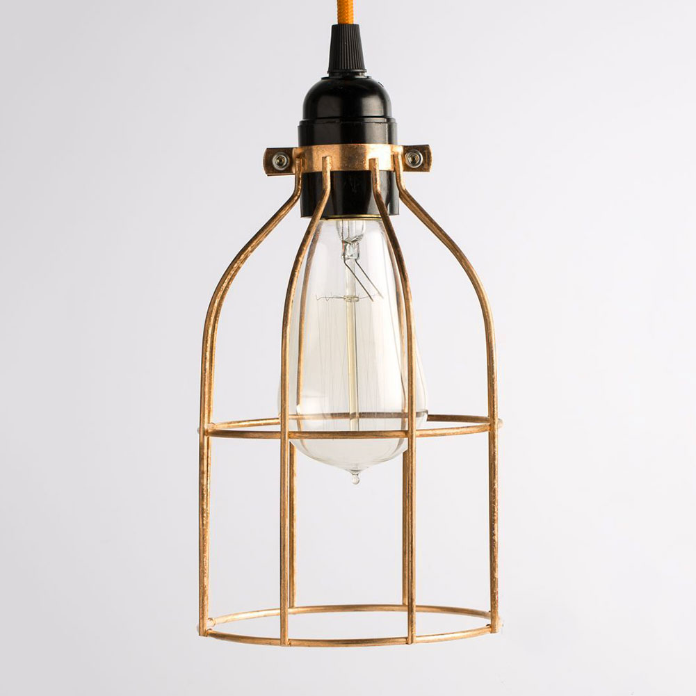 metal guard for pendant string light lamp holder industrial wire iron bulb ca. Black Bedroom Furniture Sets. Home Design Ideas