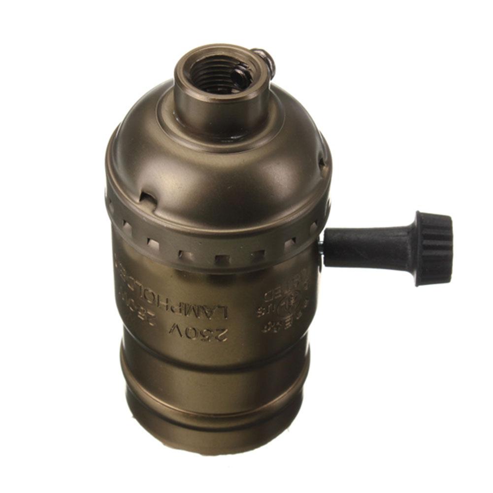 E27 edison vintage retro pendant lamp holder light bulb socket with switch ebay Light bulb socket