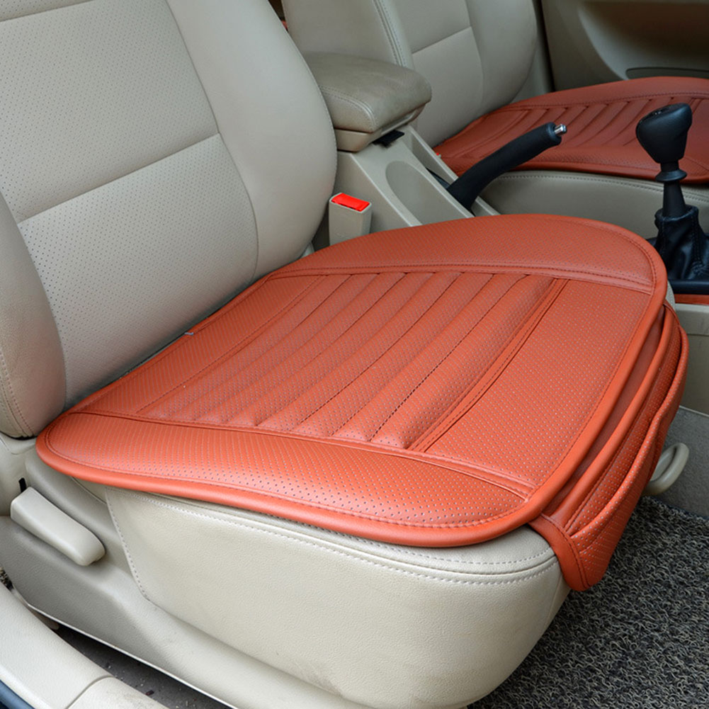 breathable pu leather bamboo car seat cover pad mat for auto chair cushion ebay. Black Bedroom Furniture Sets. Home Design Ideas