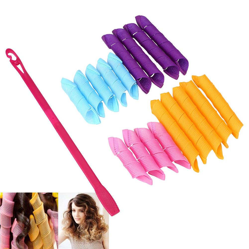18pcs Set Magic Hair Curlers Styling Perm Ringlets Rollers