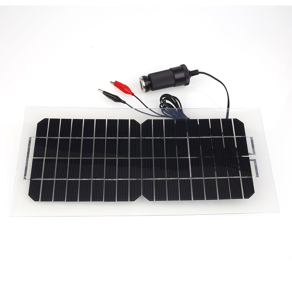 30w 18v car camping solar power panel module battery. Black Bedroom Furniture Sets. Home Design Ideas