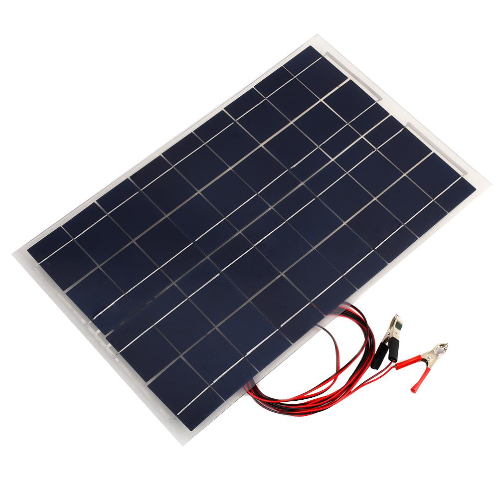 30W 20W 10W 5W 18V Car Boat Camping Solar Panel Battery