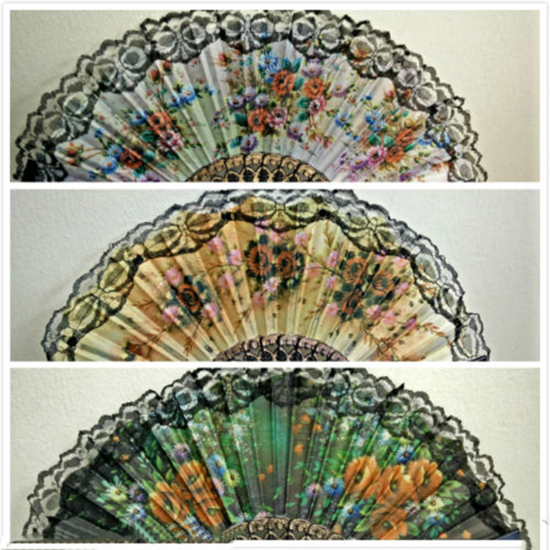 5ECF-Folding-Spanish-Flower-Floral-Fabric-Lace-Dancing-Party-Decor-Hand-Fan