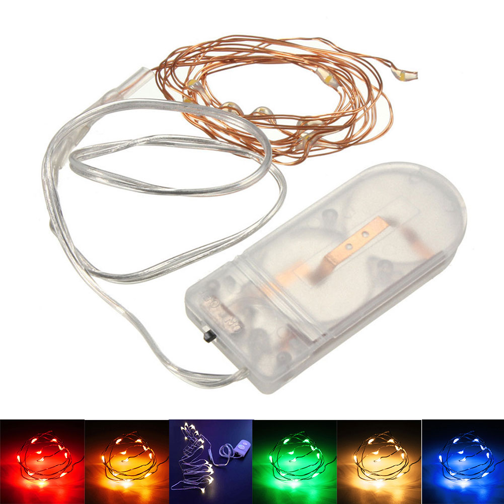 Copper String Lights Diy : 1M 10LED Copper Wire String Strip Fairy Lights Holiday Christmas Waterproof