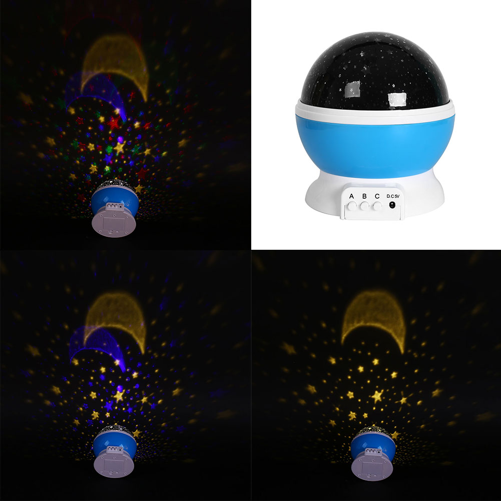 baby comos starry star projector romantic usb rotating night sky night light ebay. Black Bedroom Furniture Sets. Home Design Ideas