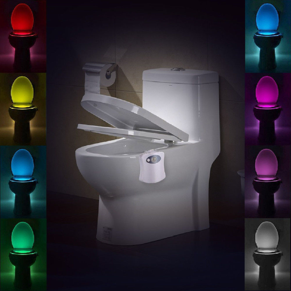 Led Toilet Bathroom Night Light Human Motion Activated Seat Sensor Lamp 8 Colors Ebay