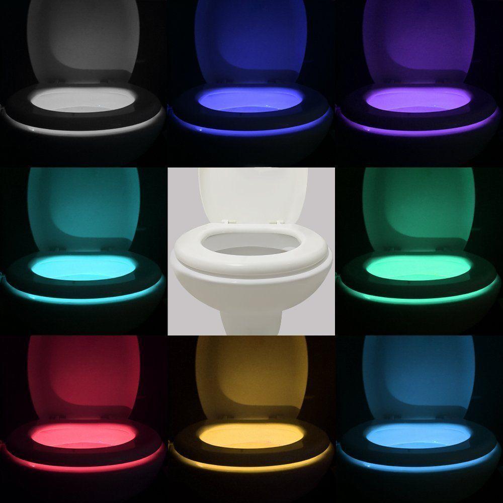 Body sensing motion sensor automatic led night light for Bathroom night light