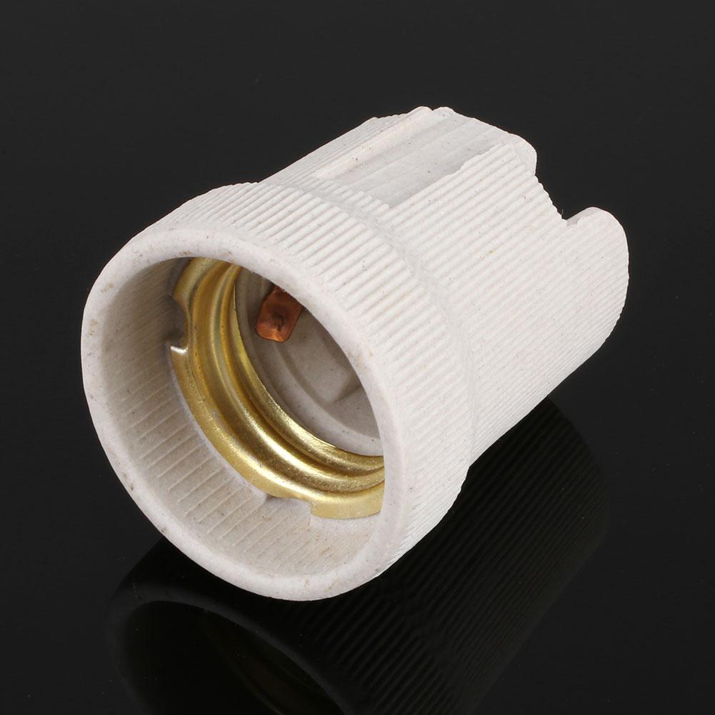 Ceramic Light Socket : Screw e ceramic porcelain socket bulb base holder for