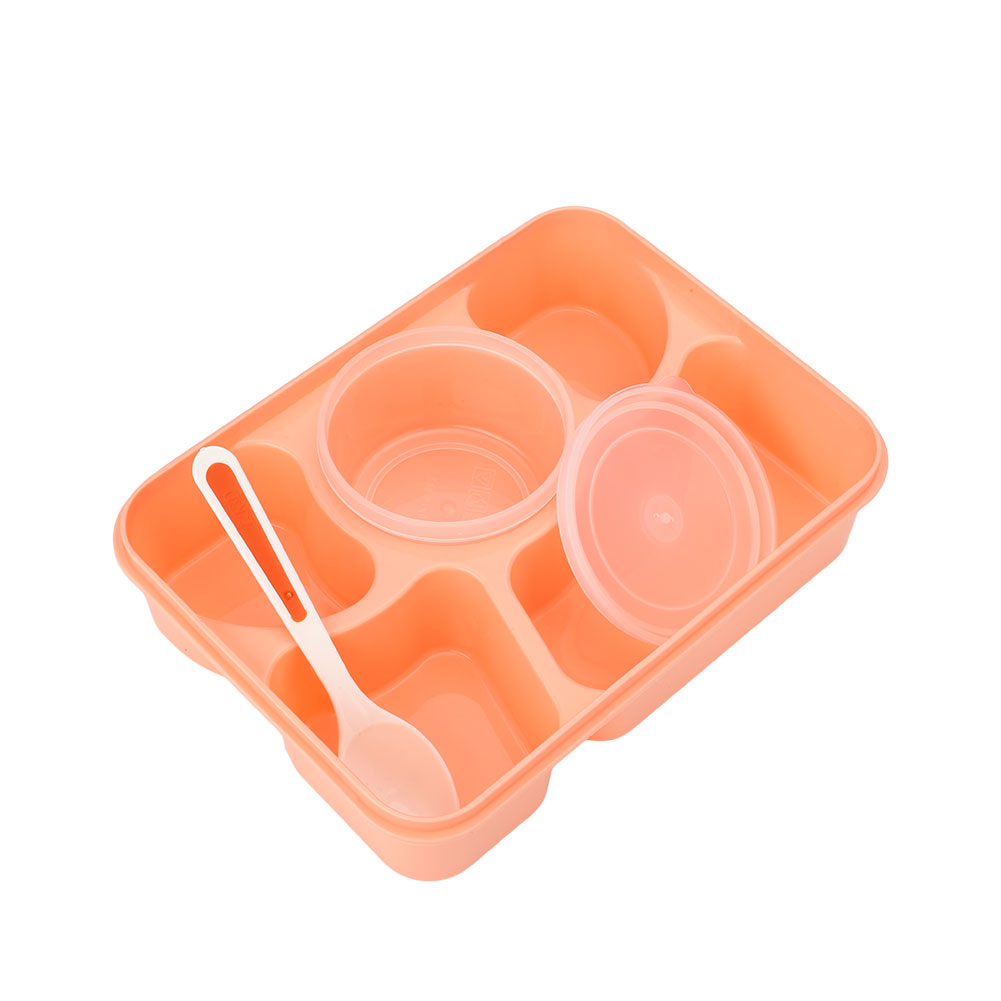 microwave bento lunch box spoon utensils food container storage box ebay. Black Bedroom Furniture Sets. Home Design Ideas