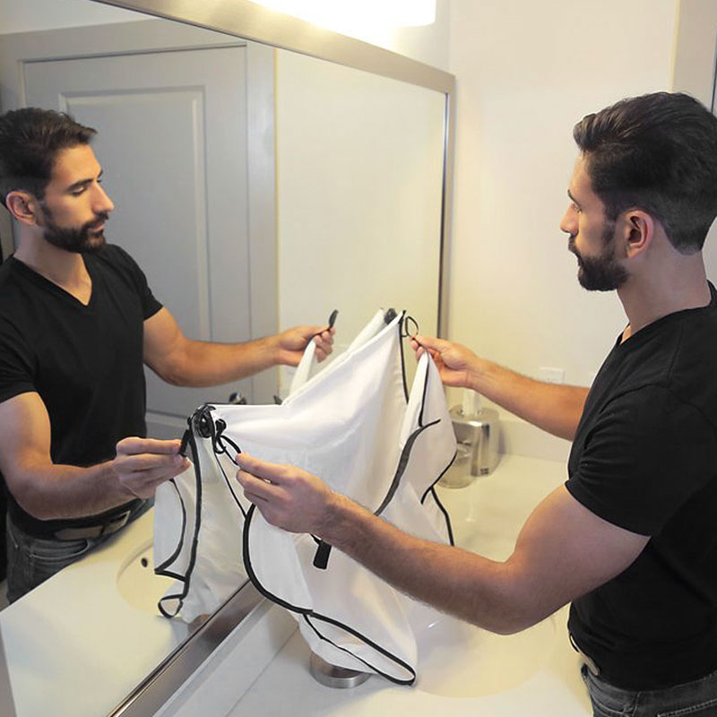man bathroom beard care trimmer hair catcher shave apron gown sink styles ebay. Black Bedroom Furniture Sets. Home Design Ideas