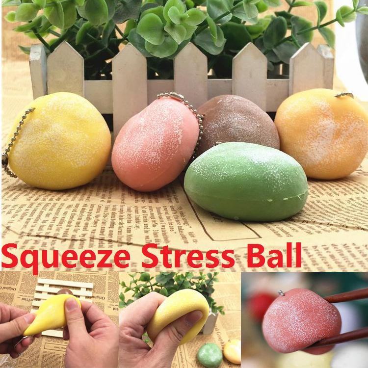 1Pc Cake Design Wagashi Mochi Stress Squishy Scented Stretchy Ball Chain eBay