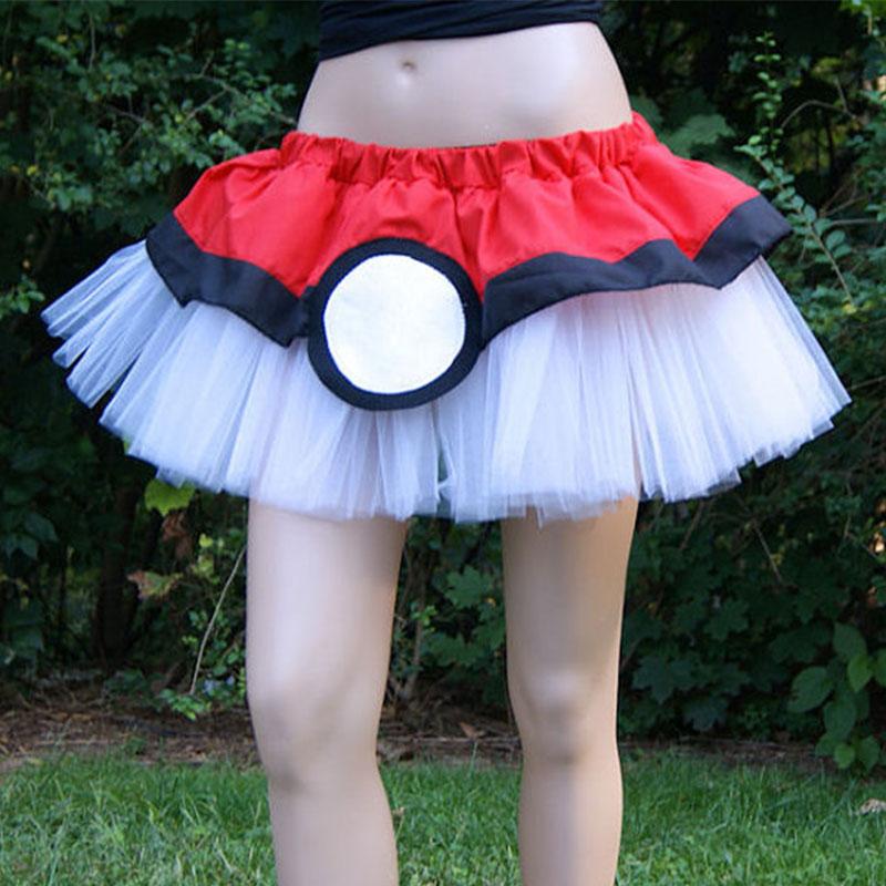 Women-Fashion-Stylish-Mesh-Hollow-Hit-Color-Splicing-High-Waist-Bubble-Skirt