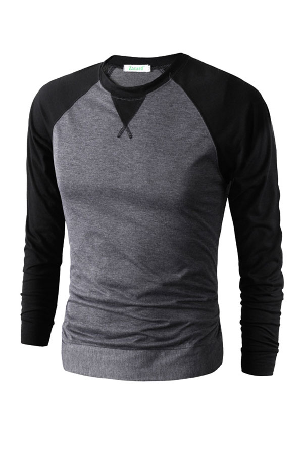 Men-039-s-Active-T-Shirt-Long-Sleeve-O-Neck-Jumper-Pullover-Blouse-Casual-Top-Tee
