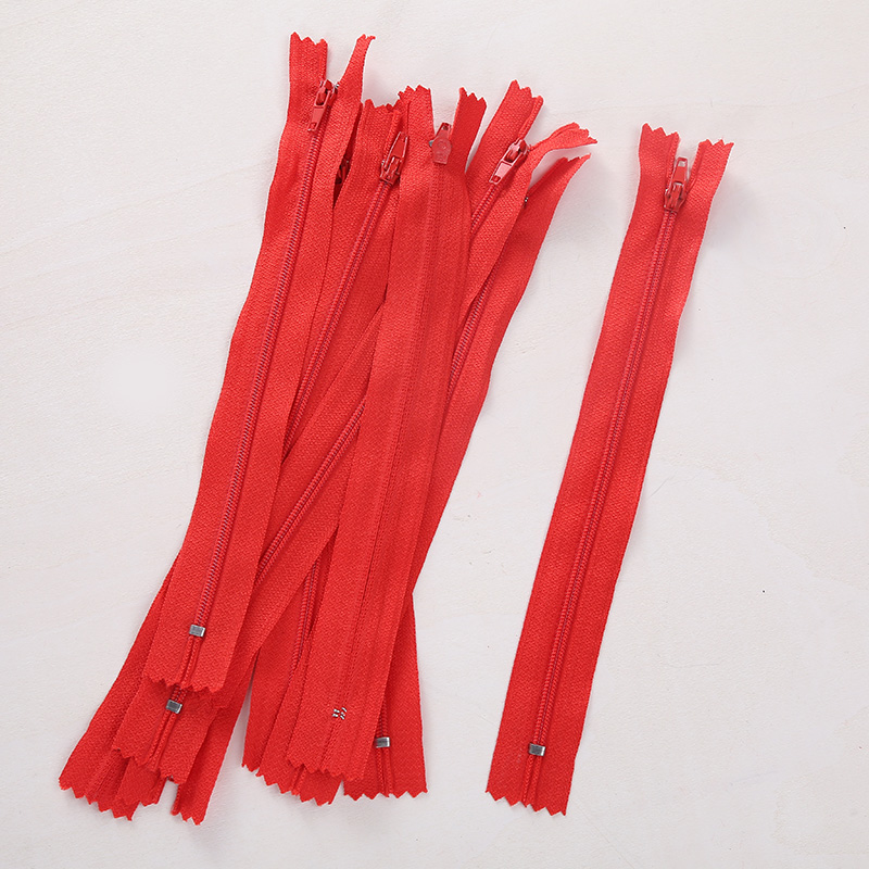 74E6-10pcs-20cm-Red-White-Nylon-Coil-Zippers-Tailor-Sewer-Garment-Accessories