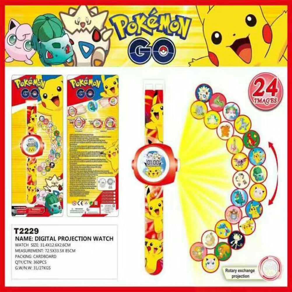 6AD0-3D-Cartoon-Projection-Watches-Doraemon-Ultraman-Batman-Toys-Kids-Children
