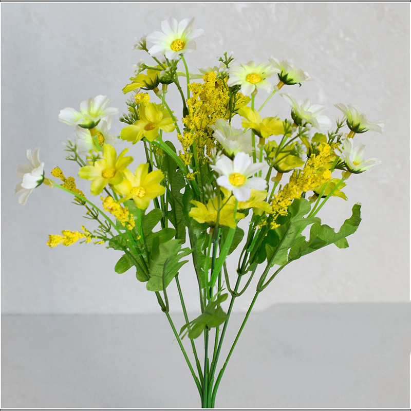 9166-Daisy-Artificial-Flower-Real-Touch-Home-Wedding-Decorative-Wreath-Supplies