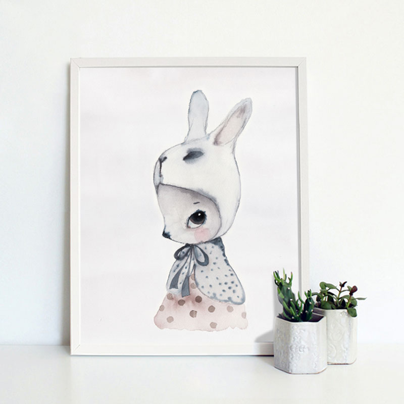 Rabbit pattern pictures modern home wall decor canvas for Rabbit decorations home