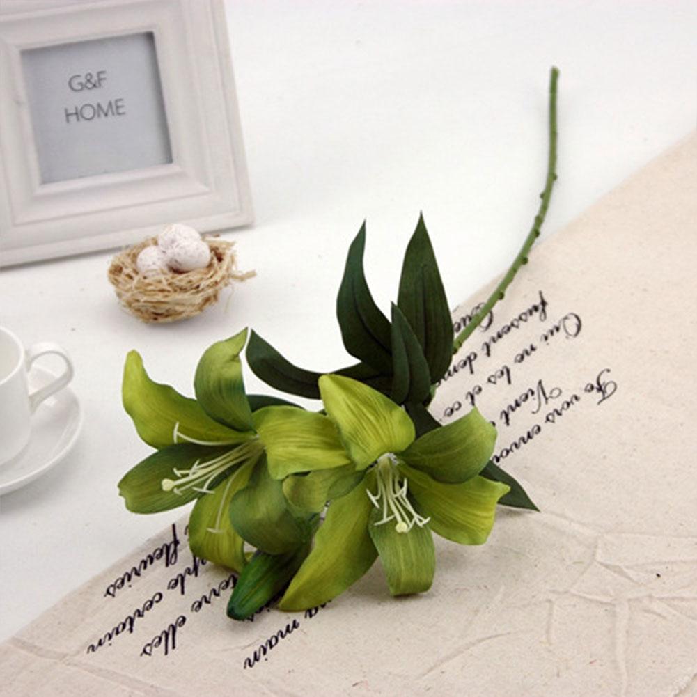 2D10-Artificial-Flowers-Lily-Bouquet-Home-Hotel-Room-Wedding-Garden-Decoration