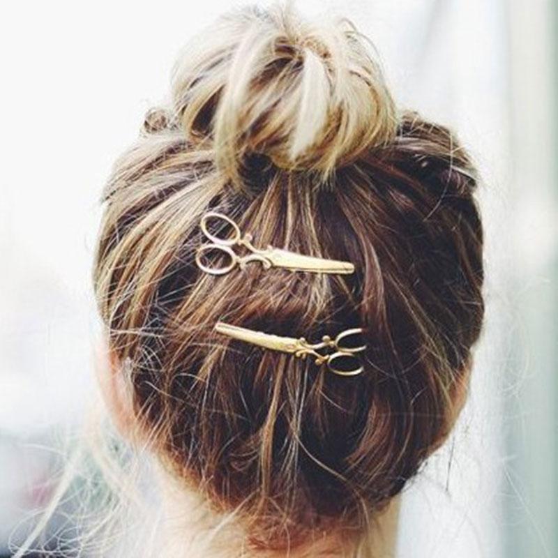 4CB6-Fashion-Personality-Women-Bangs-Metal-Scissors-Hairpin-Hair-Accessories