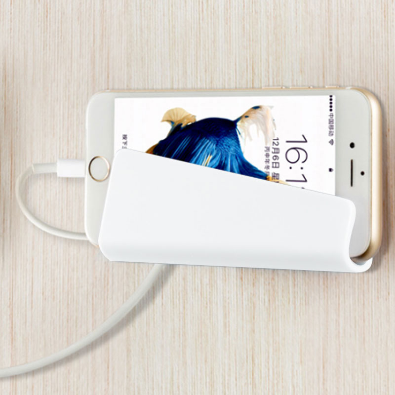 0B77-Phone-Wall-Charger-Hanging-Holder-Stand-Bracket-Charge-Hanger-Rack-Shelf