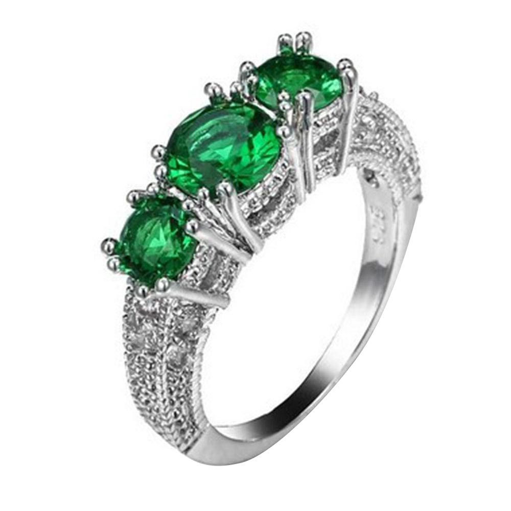 A719-Women-Three-Stone-Emerald-Diamond-Wedding-Ring-Filled-Engagement-Gifts