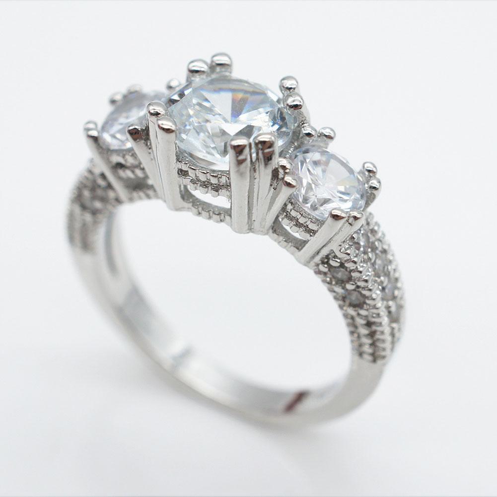 E9EA-Women-Three-Stone-Emerald-Diamond-Wedding-Ring-Filled-Engagement-Gifts