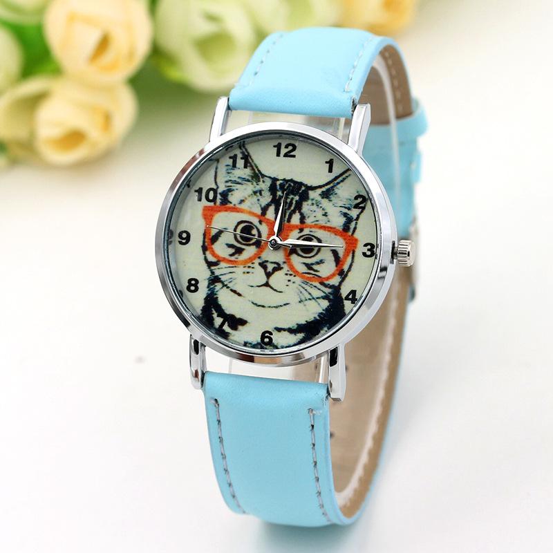6B94-Women-Leather-Band-Cartoon-Cat-Luxury-Women-039-s-Business-Scales-Wrist-Watch