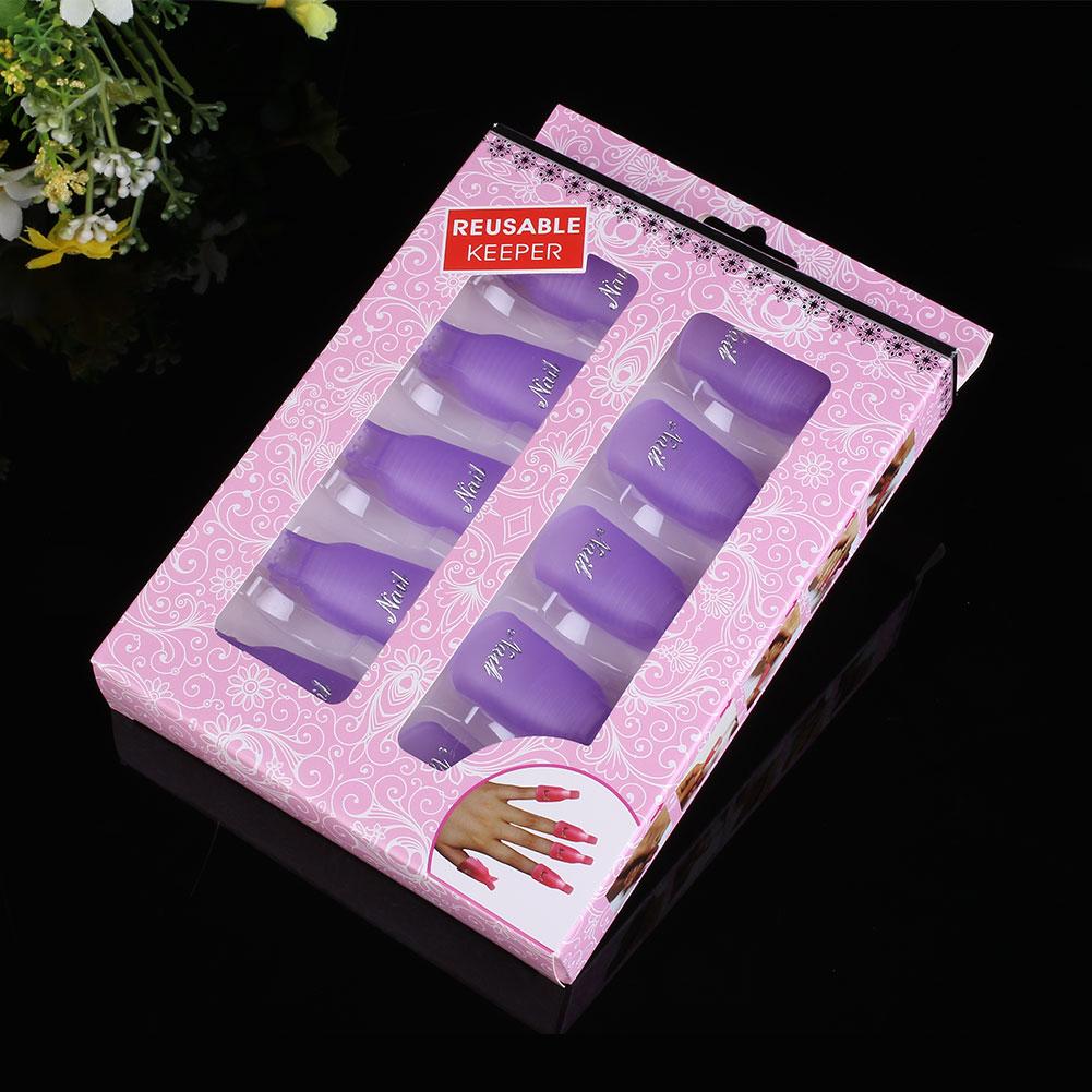 B627-10Pcs-Acrylic-Nail-Art-Smart-Soak-Off-Clip-UV-Gel-Polish-Remover-Wrap-Cap