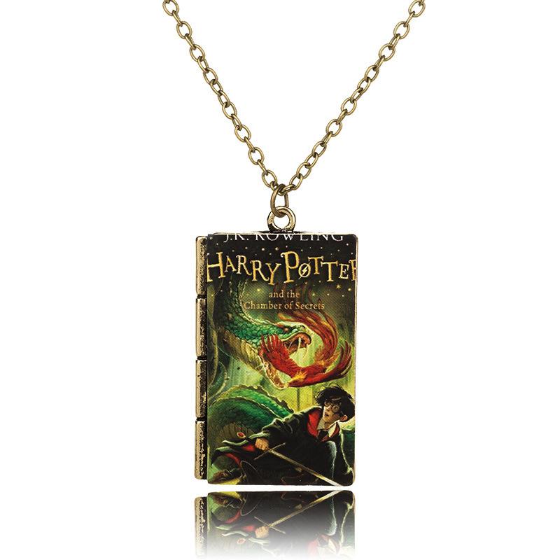BA66-Eur-amp-American-Harry-Potter-Necklace-Pendants-Choker-Tiny-Notebook-Series