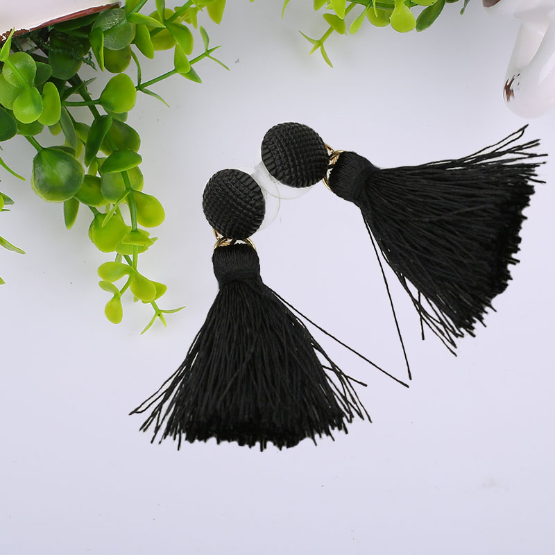 82FF-Women-Fashion-Frosted-Ball-Button-Tassels-Ear-Studs-Earrings-Jewelry-Gift
