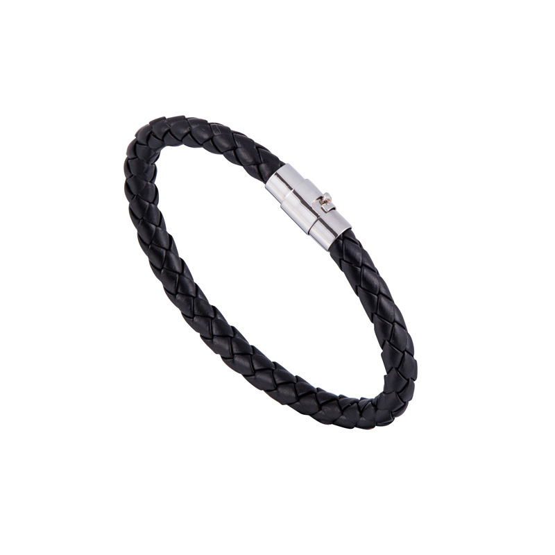 8BDF-PU-Leather-Bracelet-Chain-Jewellry-Decoration-Ornaments-Magnetic-Snap-Boys