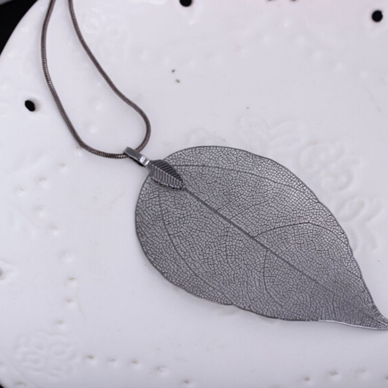 44C9-Women-039-s-Lady-Leaf-Pendant-Gold-Plated-Long-Necklace-Jewelry-Access-Gifts