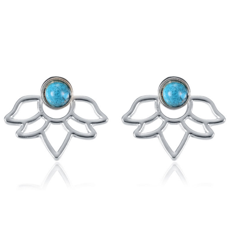 F7DA-Women-039-s-Fashion-Girls-Turquoise-Stone-Flower-Ear-Stud-Earrings-Jewelry