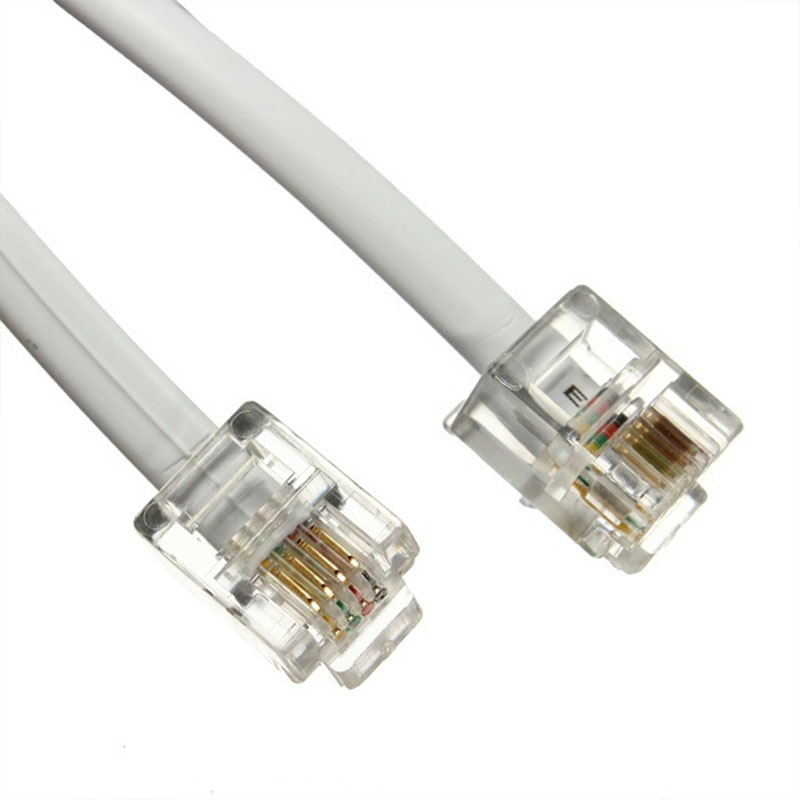 3m rj11 to rj11 telephone phone cable lead 4 pin 6p4c for adsl router modem fax ebay - Cable adsl rj11 ...
