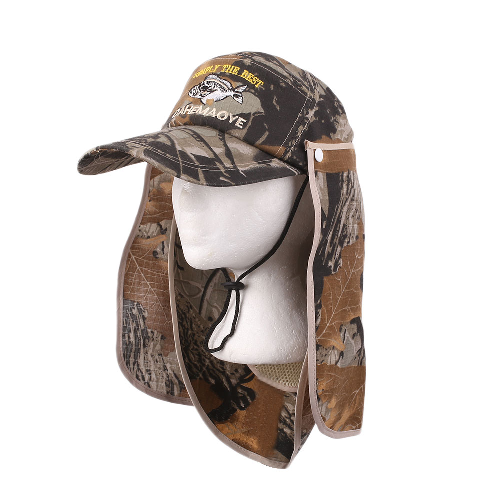 Sport fishing hiking camo cap protection face mask neck for Fishing neck cover