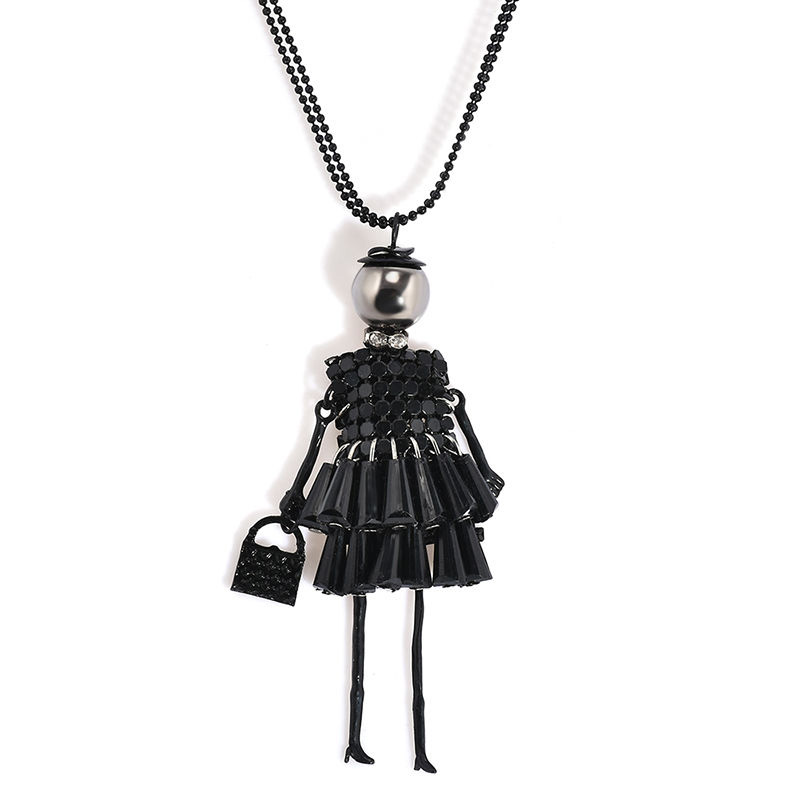 2C33-Fashion-Women-Necklace-Doll-Beads-Sweater-Chain-Manual-Pendants-Jewelry