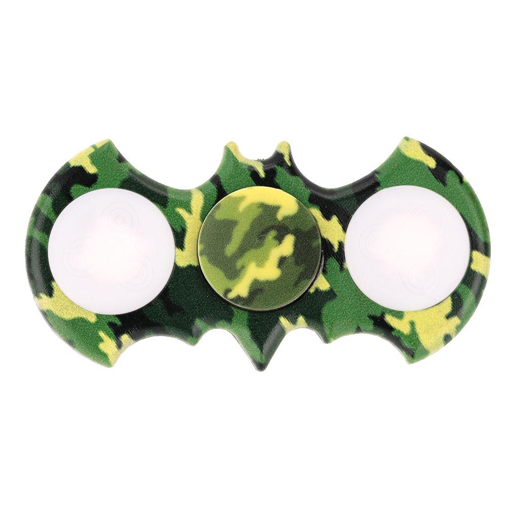 LED-Camouflage-Hand-Spinner-Bat-Pressure-reducing-Gyros-Kids-Fidget-Toys-E6D0