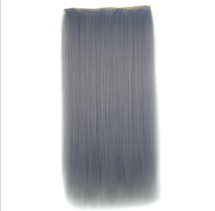 1B22-Silver-Gray-Hair-Extension-Straight-Accessory-Women-Hairpieces-Hair-Tail