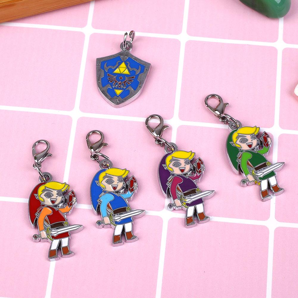 FA7B-5Pcs-The-Legend-Of-Zelda-Colorful-Alloy-Figures-Dolls-Pendants-Lanyard