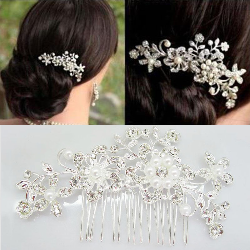 E048-Pearls-Rhinestones-Wedding-Hair-Vine-Crystal-Bridal-Diamante-Headpiece